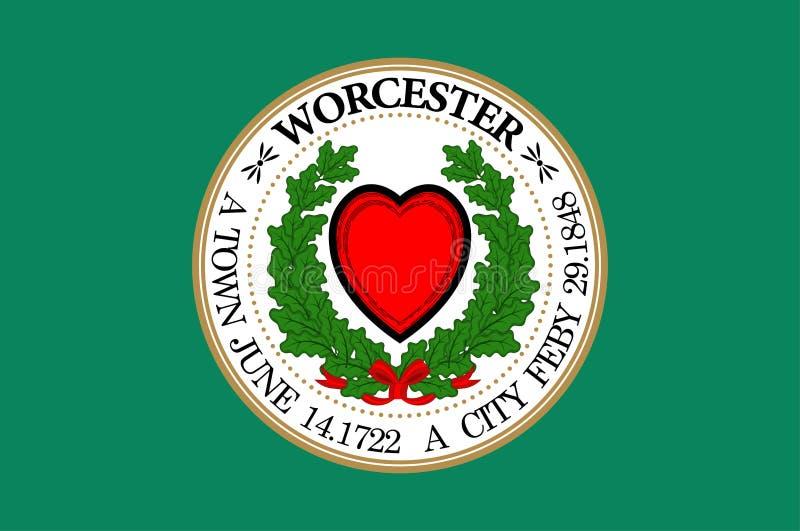 Bandiera di Worcester negli Stati Uniti royalty illustrazione gratis