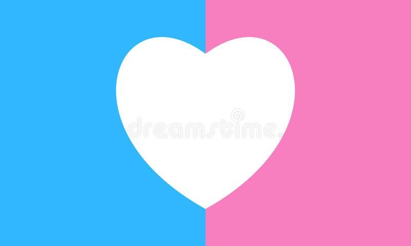 Bandiera eterosessuale di orgoglio - segno della gente sessuale di maggioranza dello straignt illustrazione vettoriale