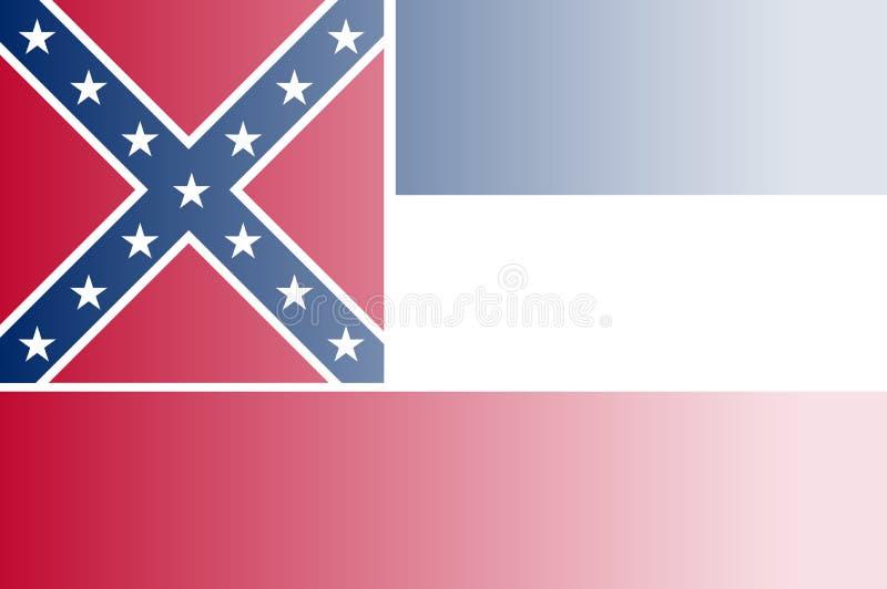 Bandiera Fade Background dello stato del Mississippi illustrazione di stock