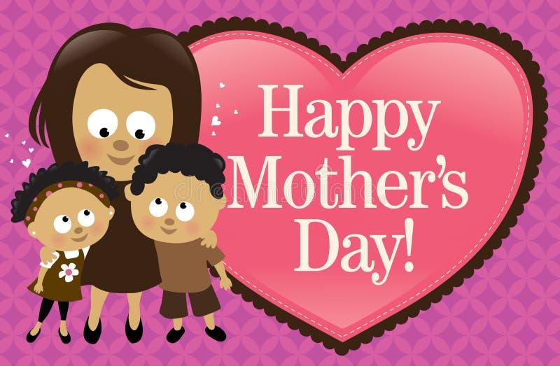Bandiera felice di giorno della madre - afroamericano royalty illustrazione gratis