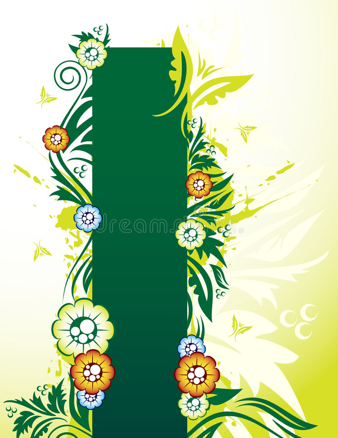 Download Bandiera floreale illustrazione vettoriale. Illustrazione di sporco - 7301601