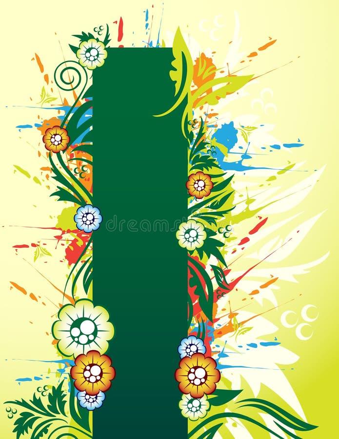 Download Bandiera floreale illustrazione vettoriale. Illustrazione di calligraphy - 7301639