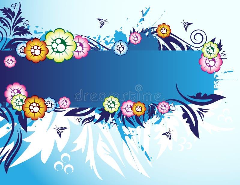 Download Bandiera floreale illustrazione vettoriale. Illustrazione di eleganza - 7304067