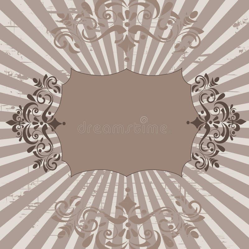 Bandiera floreale illustrazione vettoriale