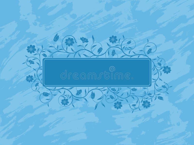Bandiera floreale di Grunge. illustrazione vettoriale