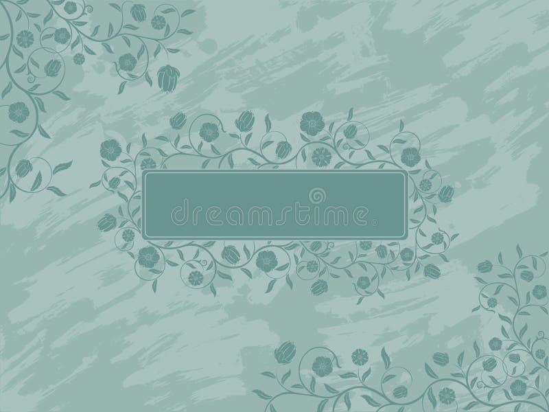 Bandiera floreale di Grunge. royalty illustrazione gratis