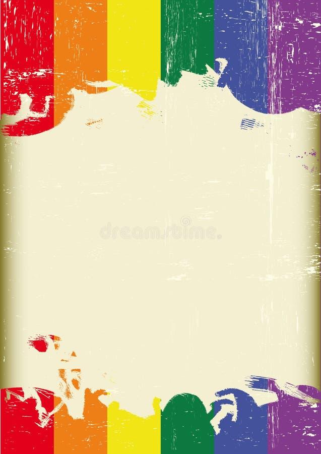 Bandiera gay di lerciume illustrazione di stock