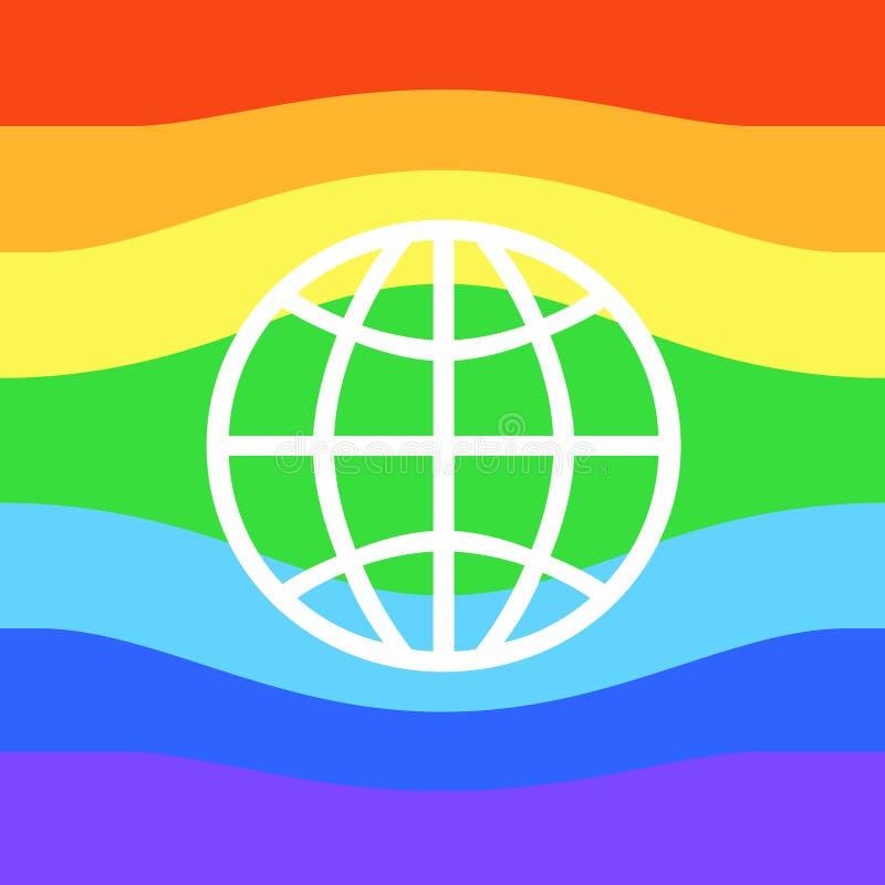 Bandiera gay o bandiera di LGBT illustrazione di stock