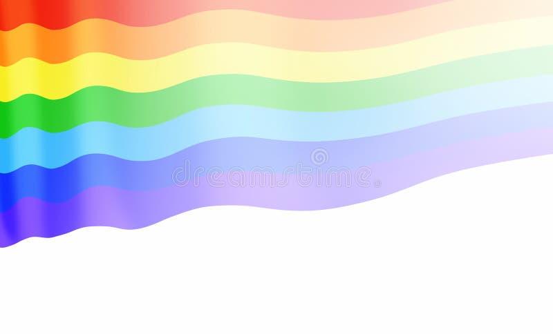 Bandiera gay o segno della bandiera di LGBT isolato royalty illustrazione gratis