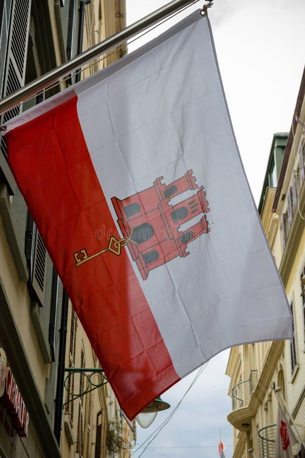 Bandiera in Gibilterra fotografia stock libera da diritti
