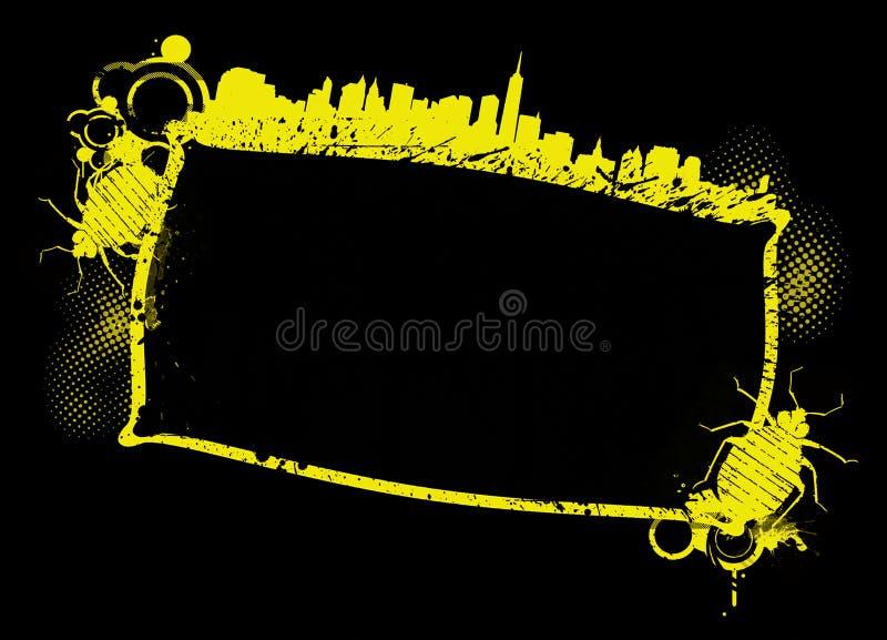 Bandiera illustrata di Grunge dell'errore di programma di base illustrazione vettoriale