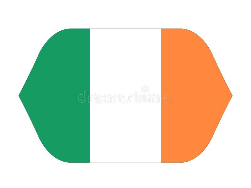 Bandiera irlandese - l'Irlanda è un'isola nell'Atlantico Settentrionale royalty illustrazione gratis