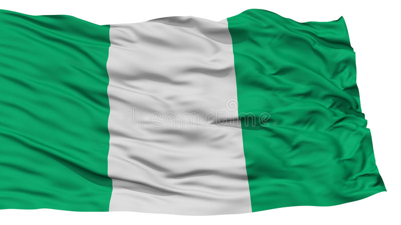 Bandiera isolata della Nigeria illustrazione vettoriale