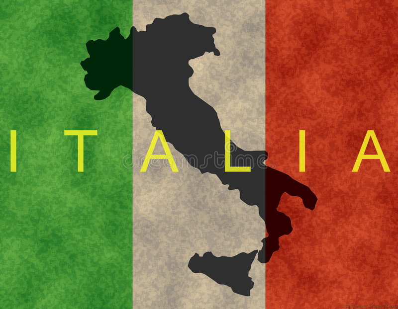 Bandiera italiana royalty illustrazione gratis