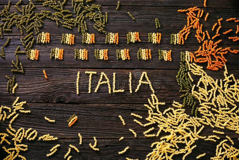 Bandiera italiana della pasta immagini stock