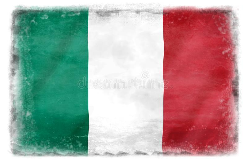 Bandiera italiana distrutta 2 immagine stock