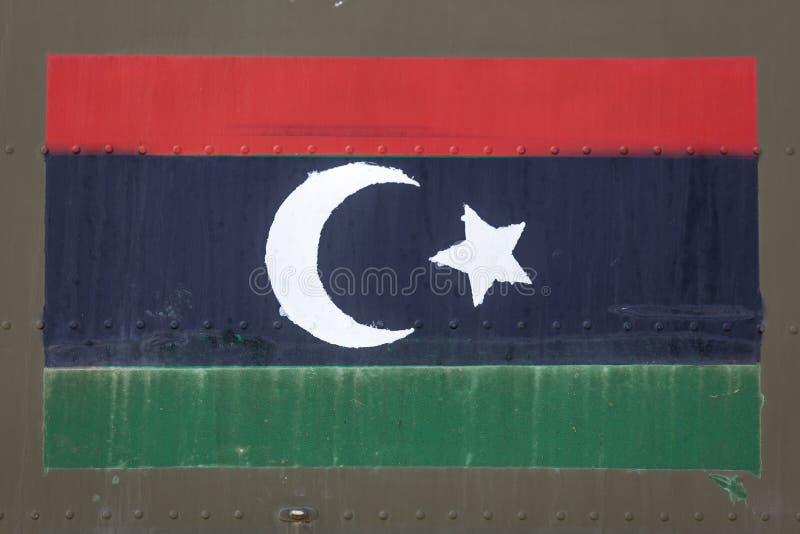 Bandiera libica sulla fusoliera immagine stock libera da diritti