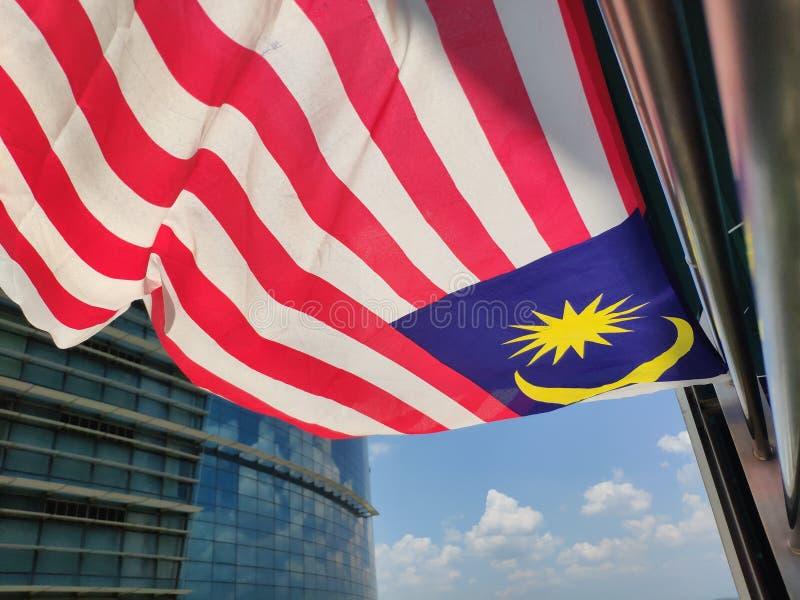 Bandiera malese fotografie stock