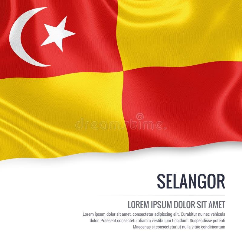 Bandiera malese di Selangor dello stato illustrazione di stock