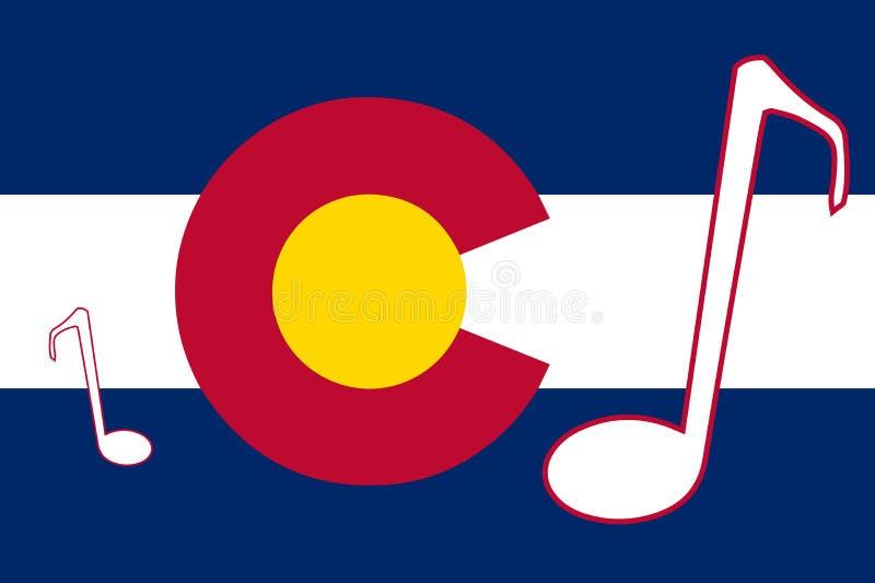 Bandiera musicale dello stato di Colorado illustrazione di stock