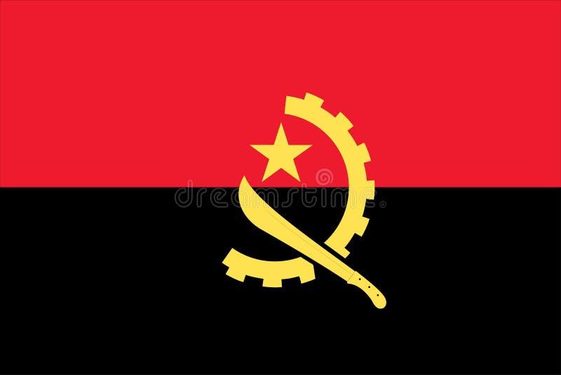 bandiera nazionale Angola illustrazione di stock