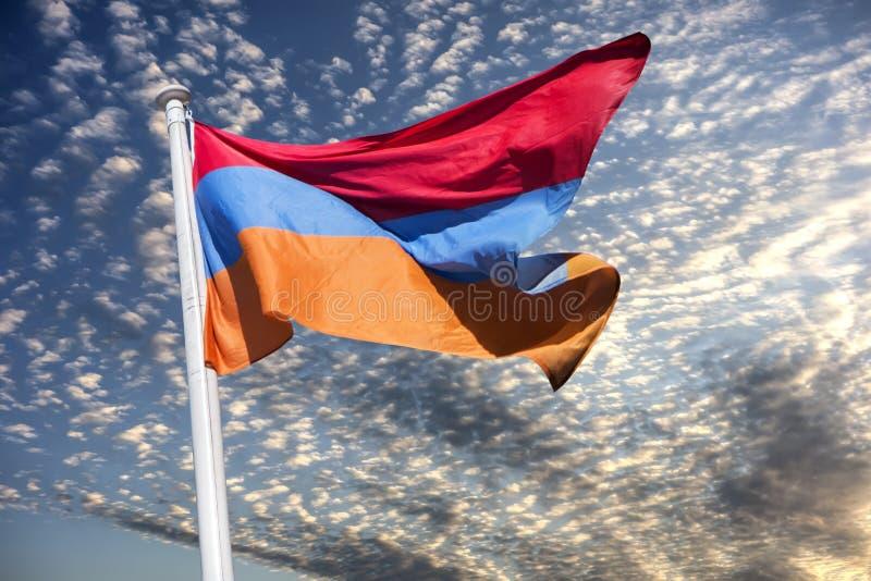 Bandiera nazionale dell'Armenia fotografia stock