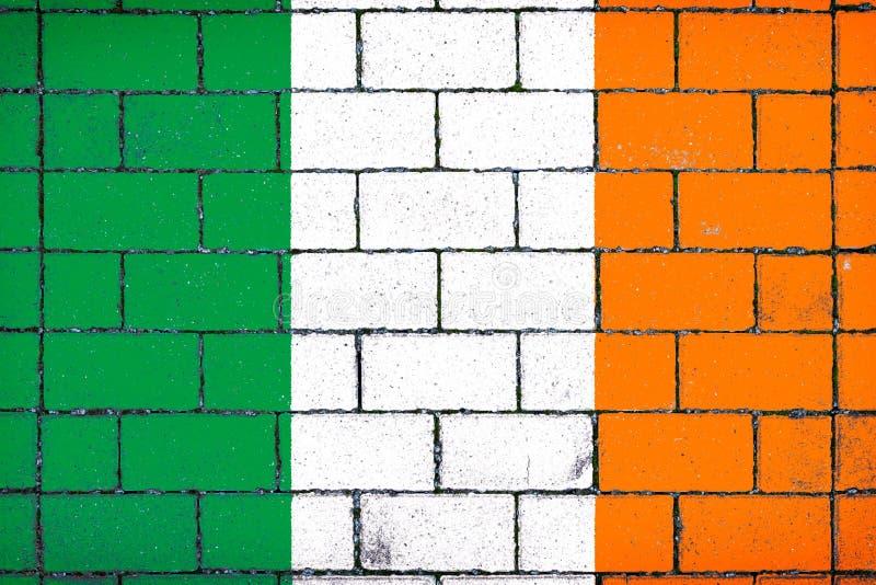 Bandiera nazionale dell'Irlanda fotografia stock
