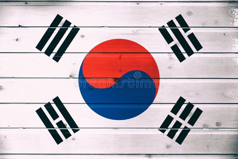 Bandiera nazionale della Corea del Sud fotografia stock