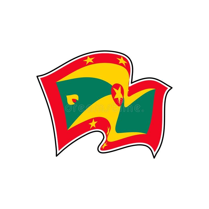 Bandiera nazionale della Granada Illustrazione di vettore StGeorge royalty illustrazione gratis