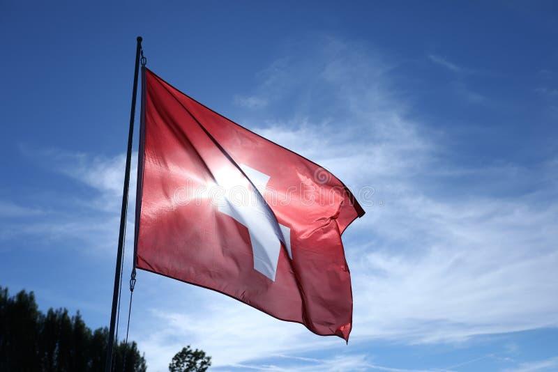 Bandiera nazionale della Svizzera s fotografia stock libera da diritti