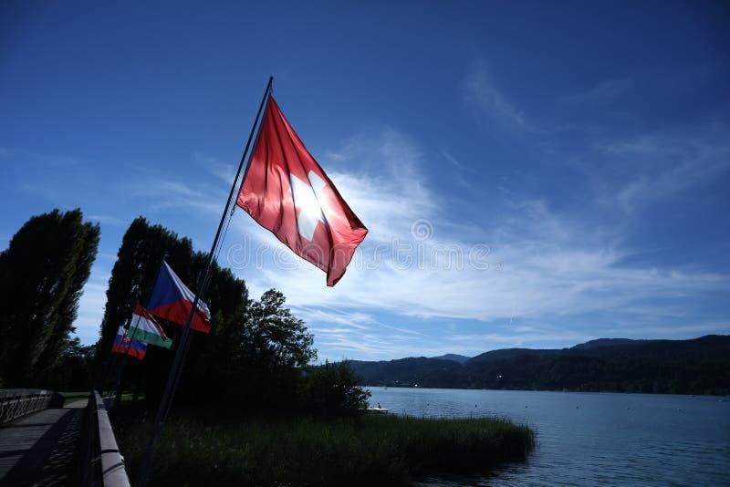Bandiera nazionale della Svizzera s fotografie stock