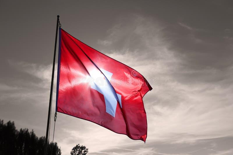 Bandiera nazionale della Svizzera s immagine stock
