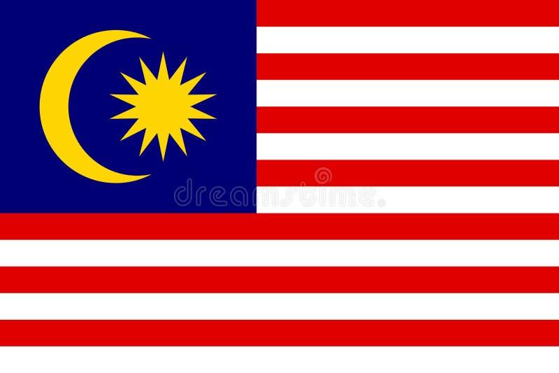 Bandiera nazionale di vettore della Malesia royalty illustrazione gratis