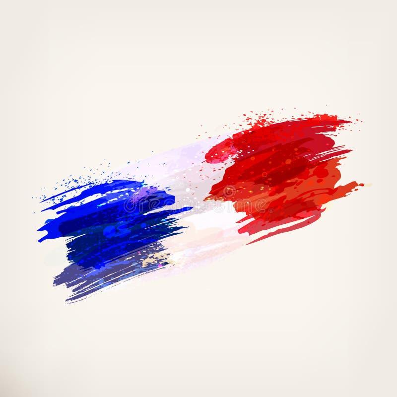 Bandiera nazionale francese illustrazione vettoriale