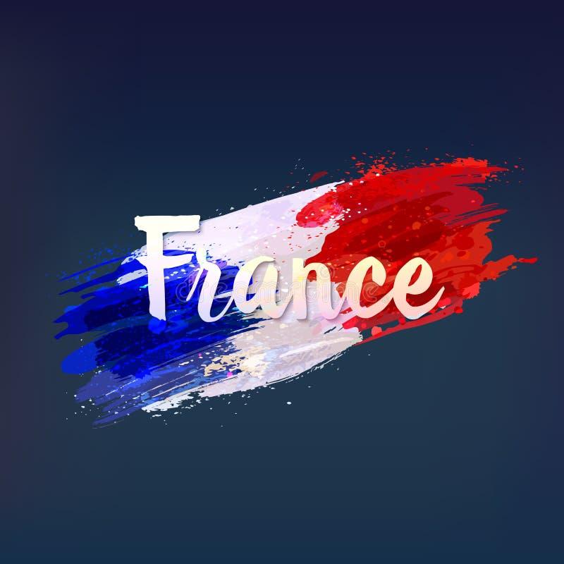 Bandiera nazionale francese Euro 2016 illustrazione vettoriale