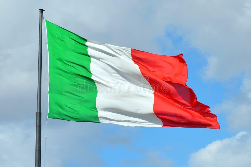 Bandiera nazionale italiana - Italia immagine stock libera da diritti