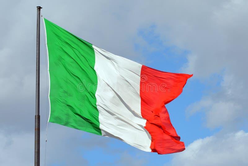 Bandiera nazionale italiana - Italia fotografia stock libera da diritti