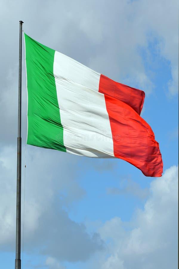Bandiera nazionale italiana - Italia immagini stock