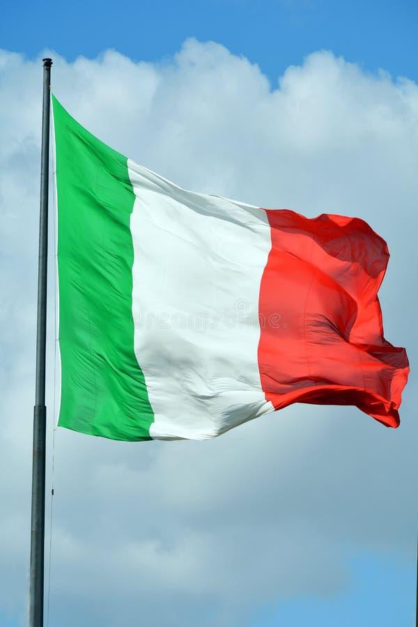 Bandiera nazionale italiana - Italia fotografia stock