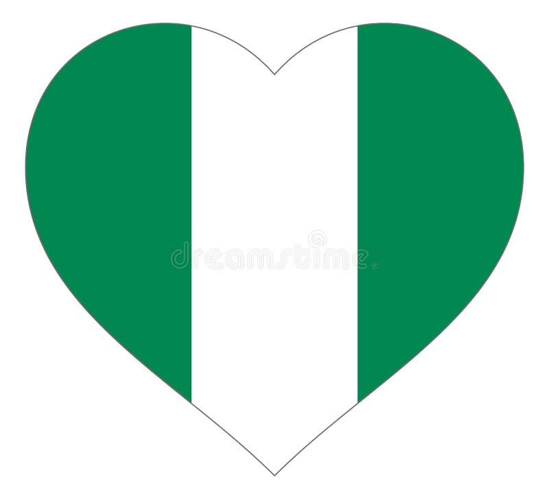 bandiera nel segno dell'illustrazione di vettore del cuore Bandiera sotto forma di cuore con il contorno di contrapposizione, sim illustrazione vettoriale