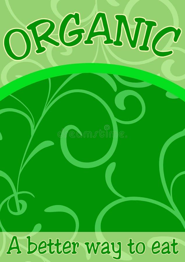 Bandiera o scheda dell'alimento biologico royalty illustrazione gratis