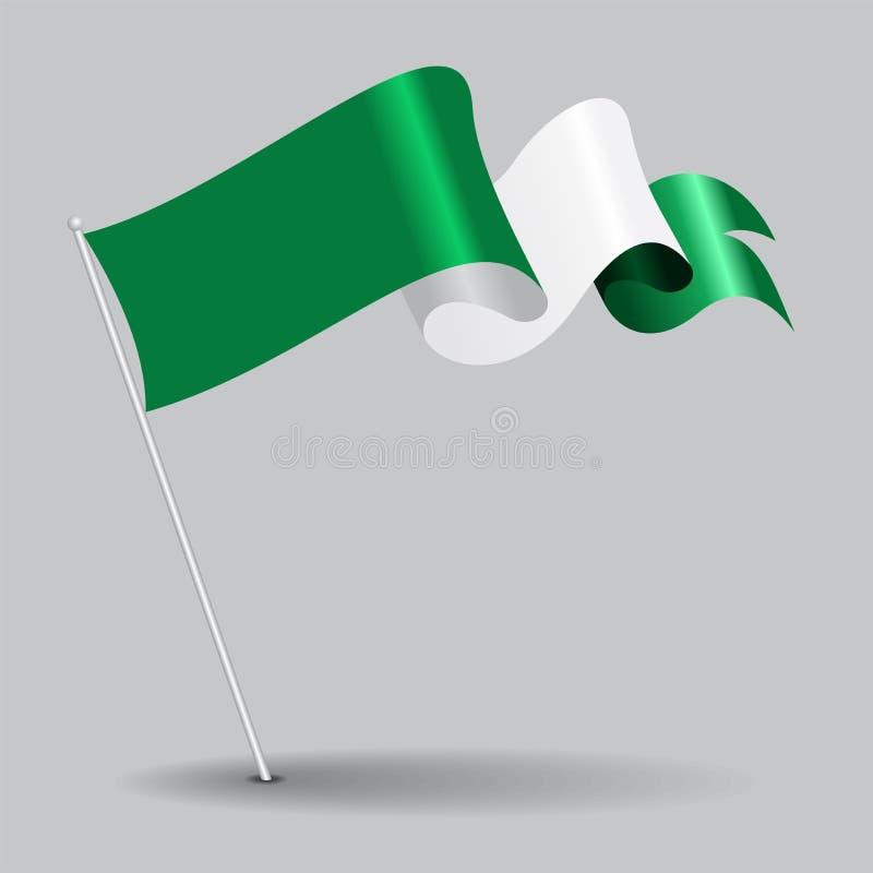 Bandiera ondulata del perno nigeriano Illustrazione di vettore illustrazione di stock