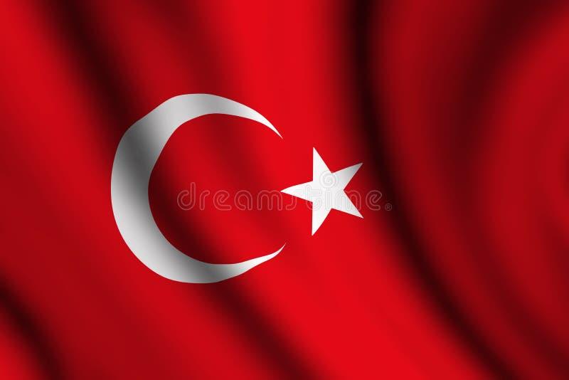 Bandiera ondulata del turco illustrazione vettoriale