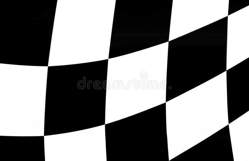Bandiera Ondulata Di Scacchi Fotografia Stock Gratis