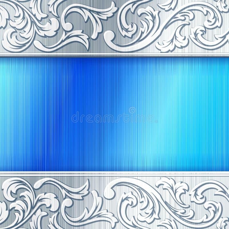 Bandiera orizzontale d'acciaio con gli acetati royalty illustrazione gratis