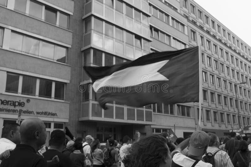 Bandiera palestinese fotografia stock libera da diritti