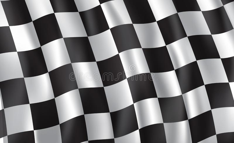 Bandiera a quadretti dell'automobile di raduno e di corsa, vettore illustrazione vettoriale