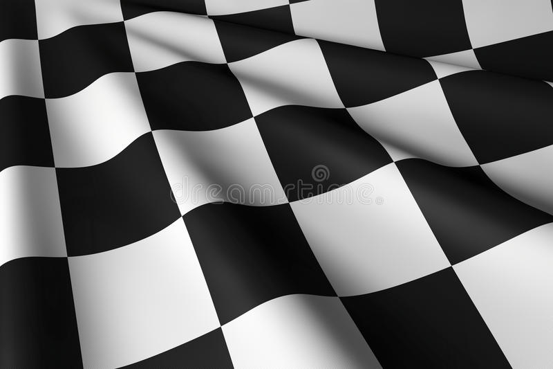 Bandiera a quadretti - primo piano & personale illustrazione vettoriale