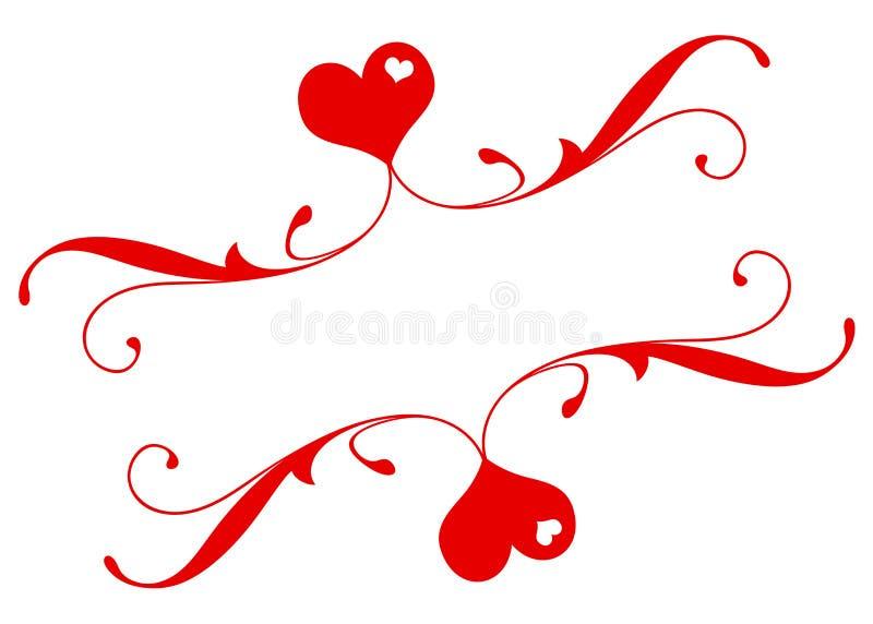 Bandiera romantica fotografie stock libere da diritti