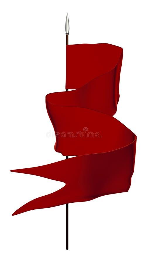 Bandiera rossa illustrazione vettoriale